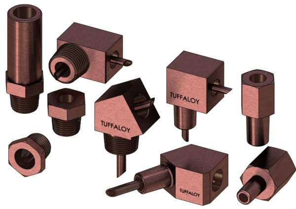Tuffaloy Electrode Adapters - Production Engineering
